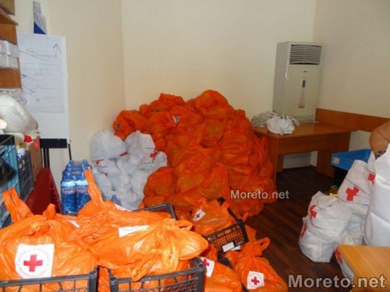 БЧК – Варна започва раздаването на хранителни продукти