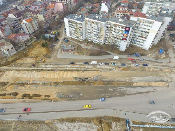 """Докъде стигна строителството на булевард """"Левски"""" (СНИМКИ)"""