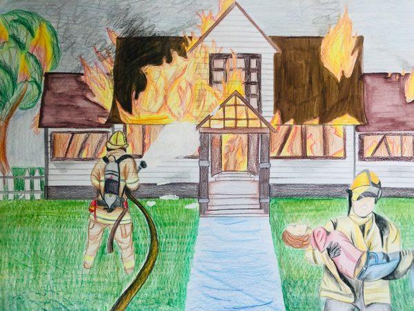 Как изглежда пожара в детските очи представиха в изложба във Варна