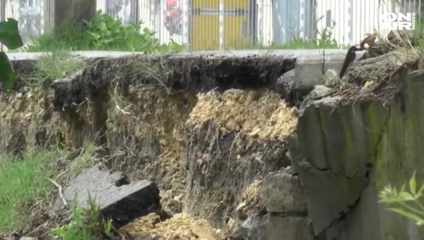 Срутената стена на велоалея във Варна – правена без арматура
