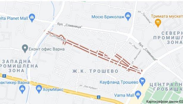 """Варненци искат улица в """"Трошево"""" да стане еднопосочна"""
