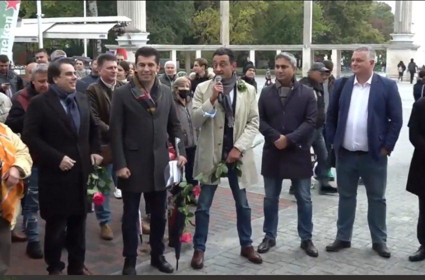 Кирил Петков и Асен Василев представиха листата във Варна